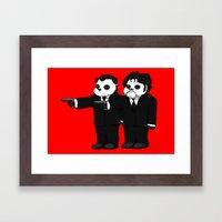 Panda Fiction! Framed Art Print