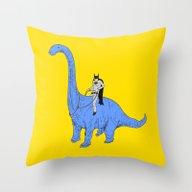Dinosaur B Throw Pillow