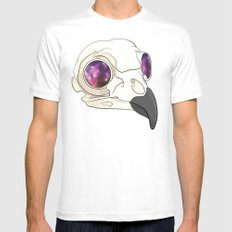 Owl Sees All Mens Fitted Tee White SMALL