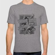 Zombies Mens Fitted Tee Tri-Grey SMALL