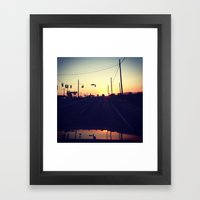 And We're Off Framed Art Print