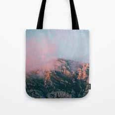 Mountains In The Backgro… Tote Bag
