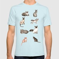 For Cat Lovers - Waterco… Mens Fitted Tee Light Blue SMALL