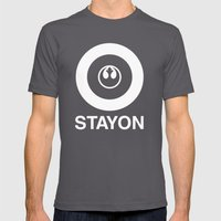 Stay On Target... Mens Fitted Tee Asphalt SMALL
