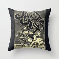 KILL THE KING AGAIN. Throw Pillow