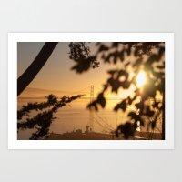 Bay Bridge - Sunrise Art Print