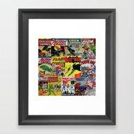Comic Pile 1 Framed Art Print