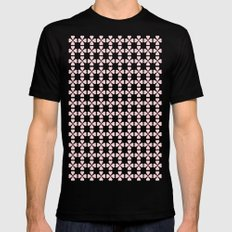 Heart Flowers Rose SMALL Mens Fitted Tee Black