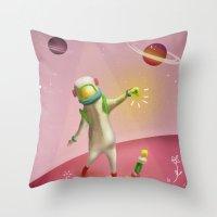 Cosmic balance Throw Pillow