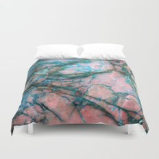 Pink and Blue Marble Duvet Cover
