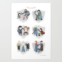 The Teams Of Westeros Art Print
