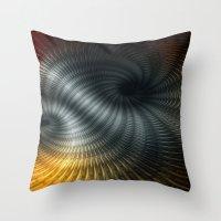 Metallic Spin Throw Pillow