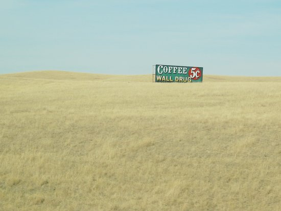 Wall Drug, $.05 Coffee Art Print