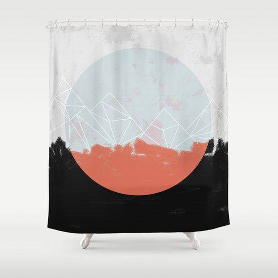 Kitchen Window Uptown Coffee Festival 2016: Landscape Abstract Shower Curtain By Mareike Böhmer