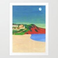 Morning Moon Art Print