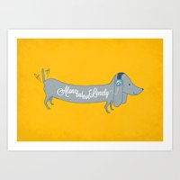 Alone But Not Lonely Art Print