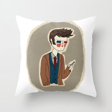 Timey Wimey Throw Pillow