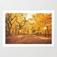 New York City Autumn Art Print