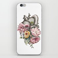 Floral Anatomy Heart iPhone & iPod Skin
