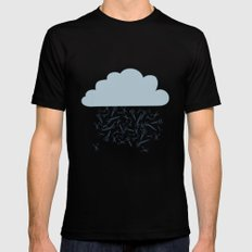 IT'S RAINING BLADES Mens Fitted Tee Black SMALL