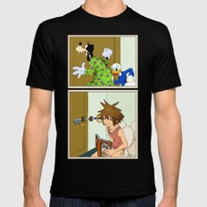 KINGDOM HEARTS: WINNIE THE POOP   SMALL Mens Fitted Tee Black