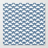 matsukata in monaco blue Canvas Print