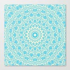aqua twirl Canvas Print