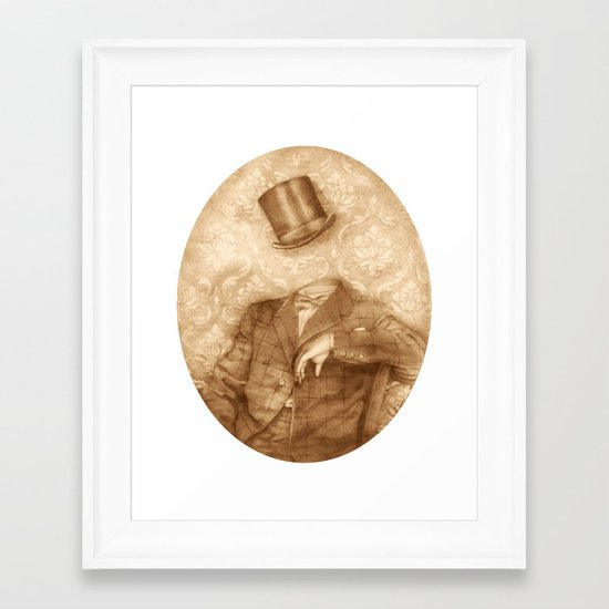 In which the head is elsewhere Framed Art Print