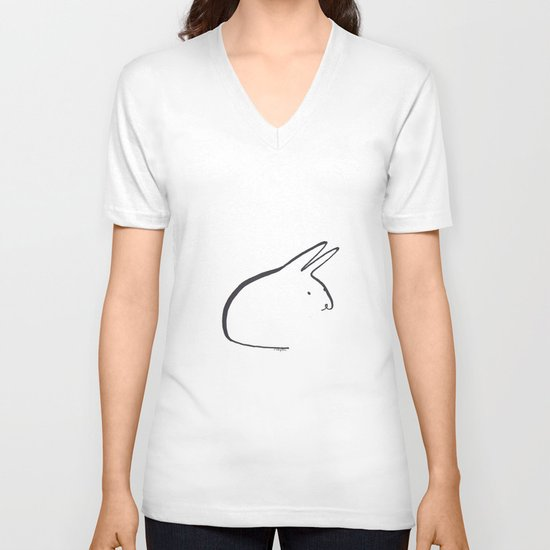 bun V-neck T-shirt