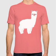 The Alpacas II Mens Fitted Tee Pomegranate SMALL