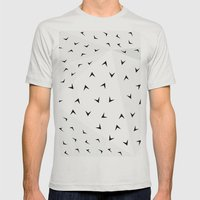 Folded Arrows Pattern Mens Fitted Tee Silver SMALL