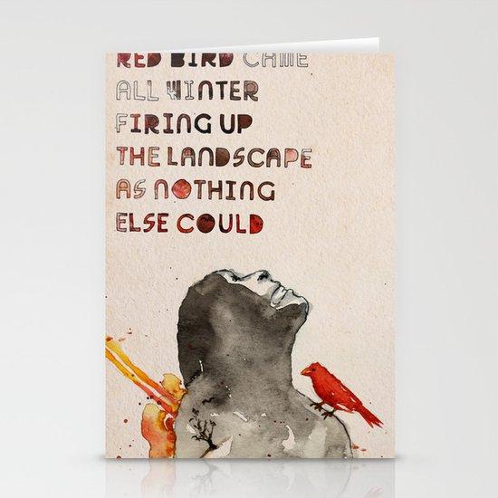 Red Bird Stationery Card