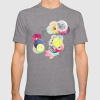 """Repeat System II """" Mens Fitted Tee Tri-Grey SMALL"""