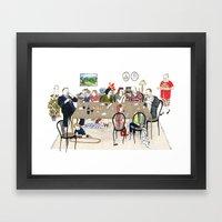 Family Dinner Framed Art Print