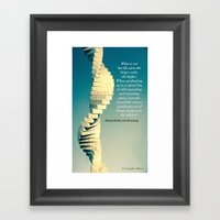 Spiral Sculpt and Quote II Framed Art Print