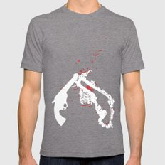 pistol Whip 2 Mens Fitted Tee Tri-Grey SMALL
