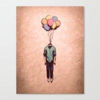 Balloon Head Canvas Print