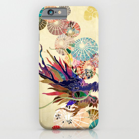Dragon with unbrellas iPhone & iPod Case