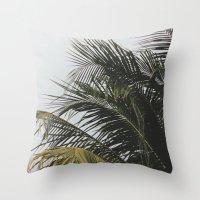palm treee Throw Pillow