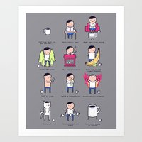 Just One More Cup Art Print
