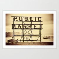 Ferry And Sign For Pike … Art Print
