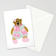 Rose Bear Stationery Cards