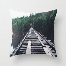 Pnw Bridge Throw Pillow