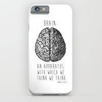 iPhone & iPod Case featuring Brain by T-SIR