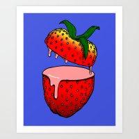 Strawberry Goo Art Print