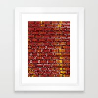 Up against the wall Framed Art Print