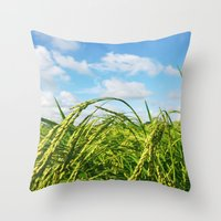 Ripe Rice Throw Pillow