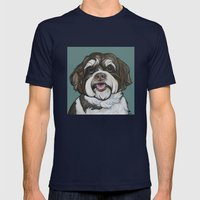 Wallace The Havanese Mens Fitted Tee Navy SMALL