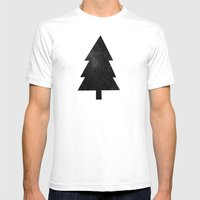 Black Forest Mens Fitted Tee White SMALL