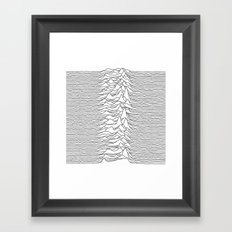 Unknown Pleasures - White Framed Art Print